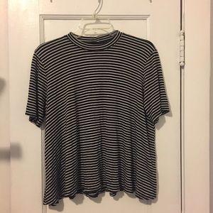 Striped Mock Neck Top